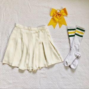 Cara's white tennis skirt